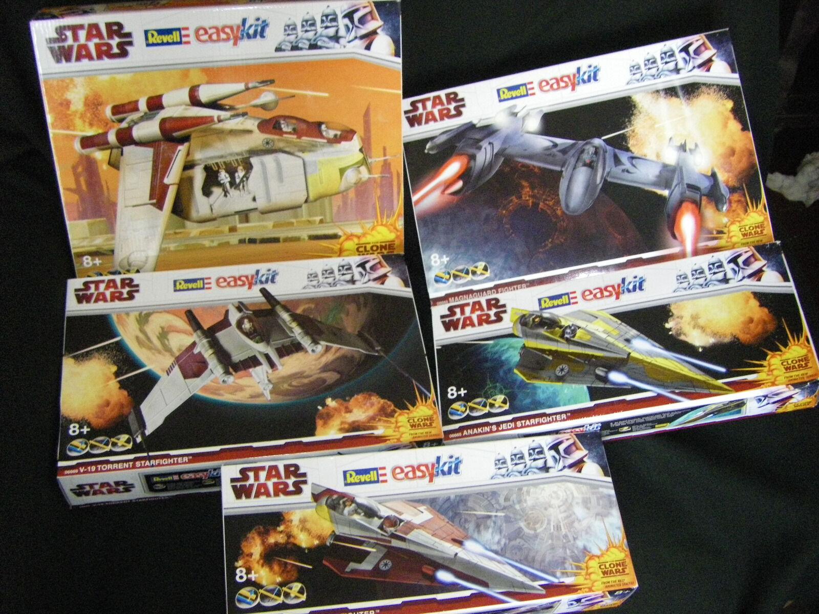 Modelbau Star Wars komplette Reihe 5 Modele