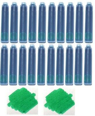 Baoer /& More Fountain Pen Refill Ink Cartridges for Jinhao 20 Emerald Green