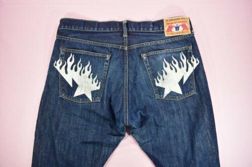 Og Bape Sta Flame Print Jeans Denim Slim/Tapered F