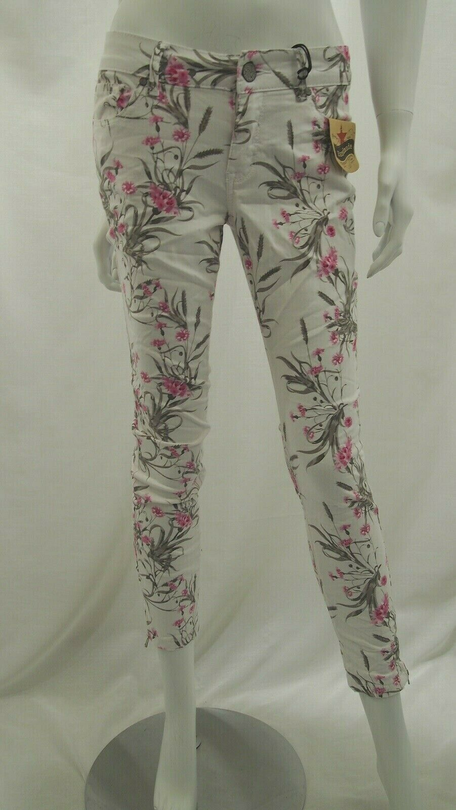 Buena VISTA ITALY 7 8 Stretch Twill Pantaloni Jeans 1903 j5281 502 blumenprint NUOVO