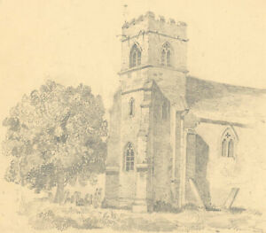 Late 19th Century Graphite Drawing - Twining Tower