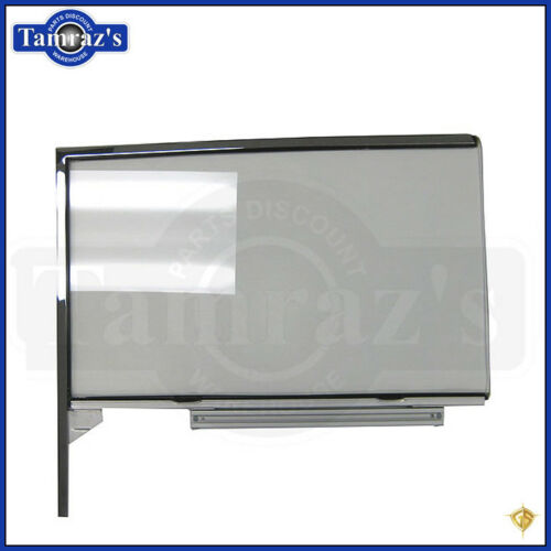 55-57 Chevy HARDTOP Front Door Glass Window w// Track /& Frame CLEAR RH New