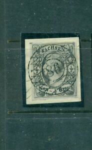 Sachsen-Koenig-Nr-8-vollstempel-Nr-86-auf-Briefst