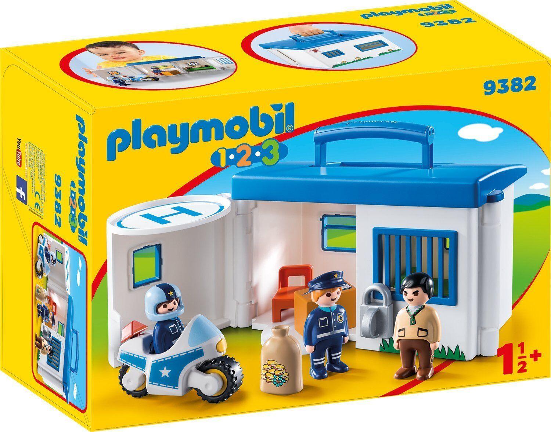 PLAYMOBIL® 1-2-3 - 9382 Mitnehm-Polizeistation, neu, ovp