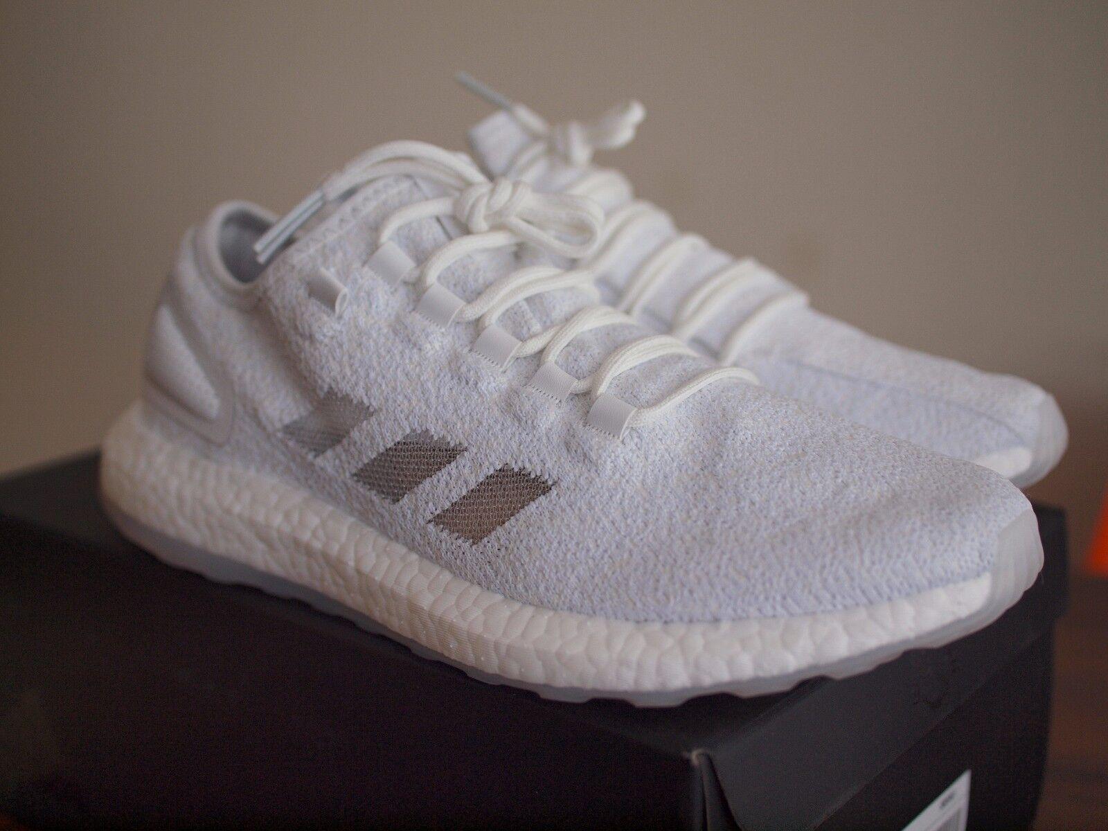 ADIDAS Consortium Pure Boost x sneakerboy X DESIDERIO UK9.5  10 Bianco Primeknit