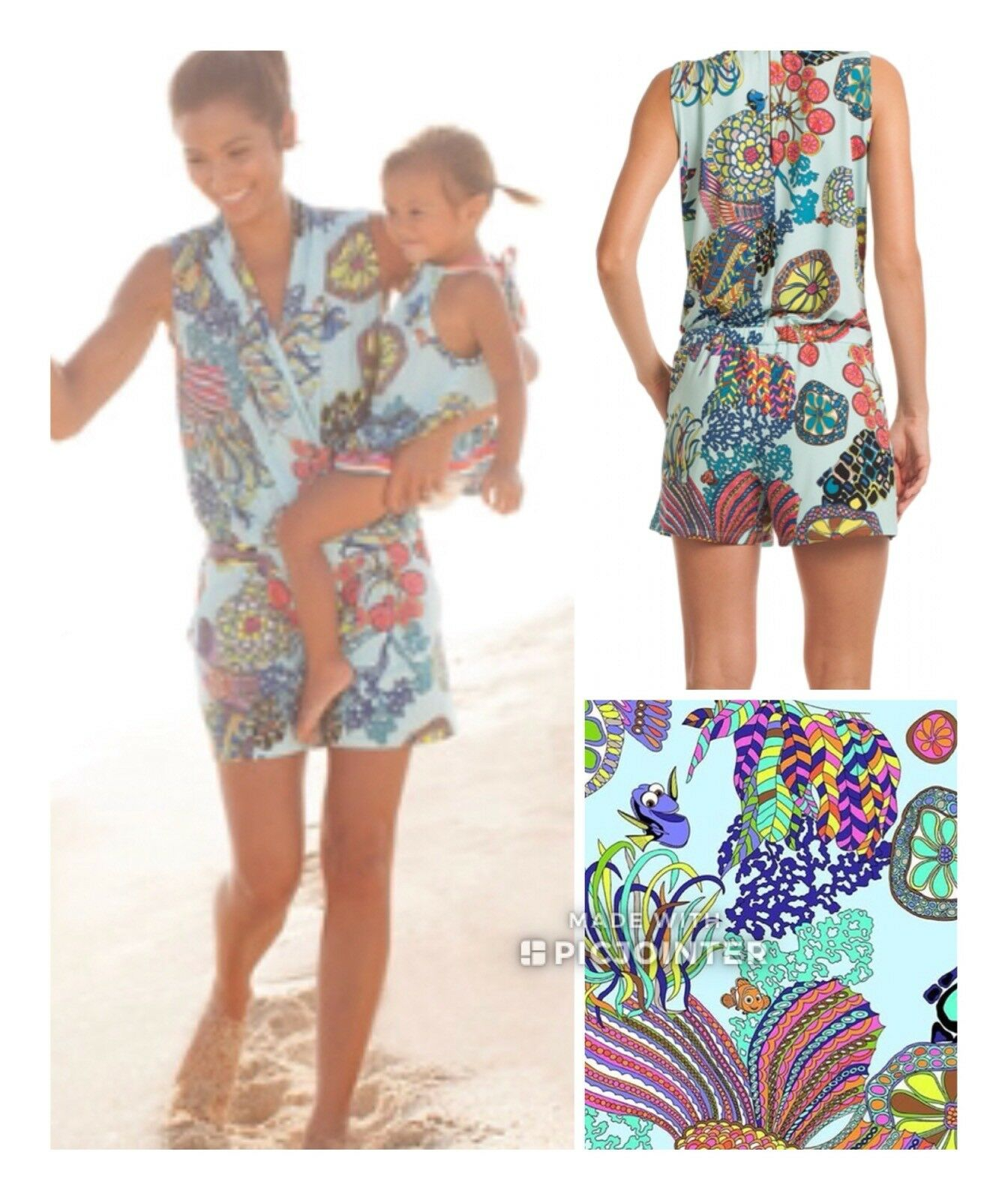 NWT  228 Sz XS Trina Turk GISELLE  FINDING DORY Romper SOLD OUT