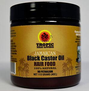 tropic isle living jamaican black castor oil hair food 4oz