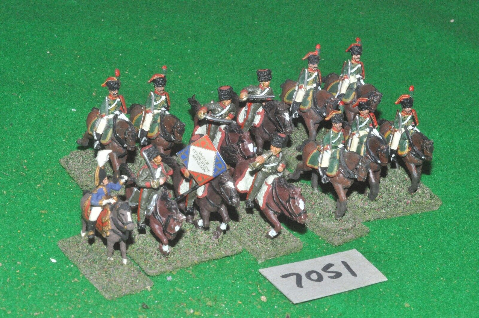 25mm napoleonic french 13 light cavalry (7051) metal painted