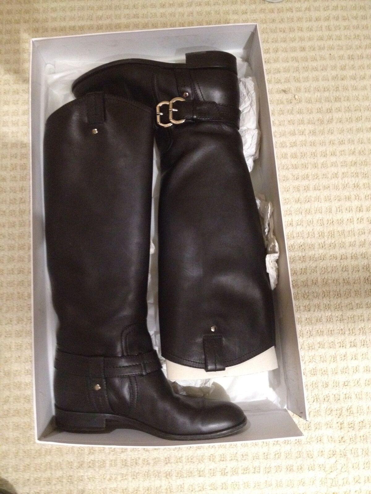 CHRISTIAN DIOR Amazone Flat Knee High Boots Women's 38 8  Leather EUC PRICE DROP