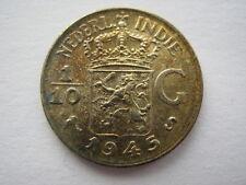 Netherlands East Indies 1/10 Gulden 1945-S, UNC.