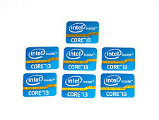 Intel Inside Core i3 Sticker Blau Blue 7x Stück pcs Aufkleber Label NEU logo new