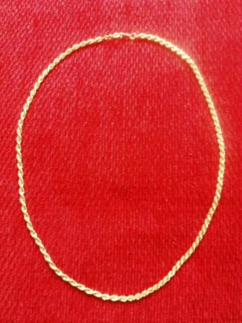 Gold Rope Costume Chain Necklace Pendant Jewellery
