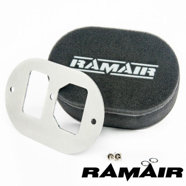 Ramair Carb Luftfilter mit Grundplatte GM Varajet II 40mm Bolzen Auf