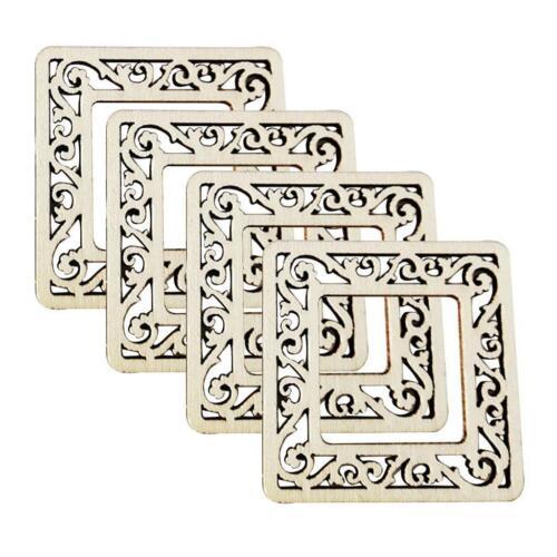100x Laser Cut MDF Wood Frame Shapes Plaque for DIY Scrapbook Card Making Craft