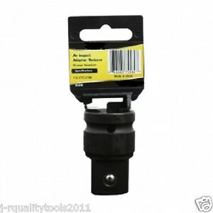 """3//4/"""" To 1//2/"""" Inch Drive Black Impact Socket Adapter Reducer Tool Pro Grade 16279"""