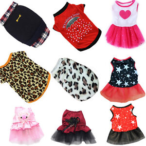Pet-Dog-Clothing-Puppy-Cat-Printed-Dress-Skirt-Clothes-Apparel-Casual-Costume