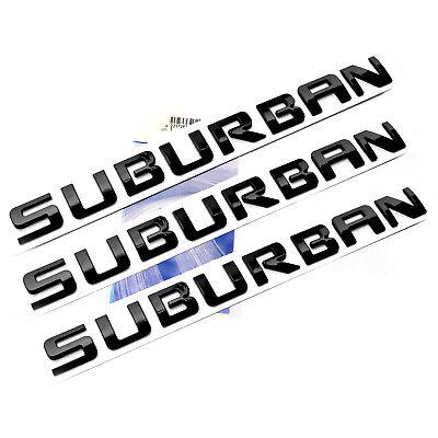OEM Black SUBURBAN LTZ EMBLEMS Nameplate 3D for GM Chevrolet Glossy p UW