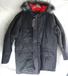 NIKE Black Warm Winter Ski Jacket Coat Parka Mens size Large NEW NWT