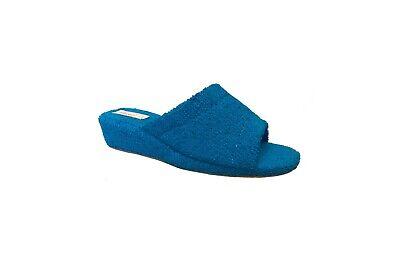 3Rose Ciabatte Pantofole Spugna Aperte Bagno Donna Antiscivolo Zeppa 4 cm Leggere Interno Sughero