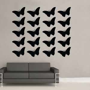 Butterfies Multi Mur Art Autocollant Art Vintage Shabby Chic Chambre (bb14)-afficher Le Titre D'origine