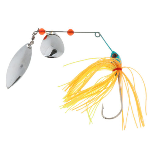 15g Hard Metal Fishing Lure Spinner Bait Spoon Tackle Bass Paillette