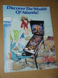 Pinball machine FLYER - Bally Atlantis (combined post- Use BASKET)