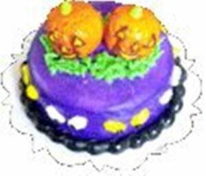 Dollhouse-Miniature-Halloween-Twin-Pumpkin-Cake-1-12-Scale