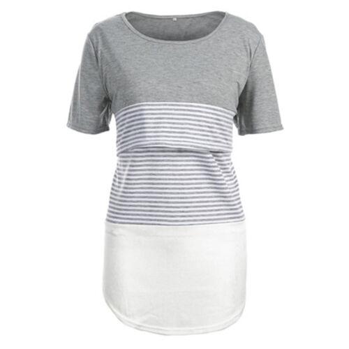 Mutterschaft Streifen Stilltop Umstandstop Stillbluse Stillshirt Umstandsshirt