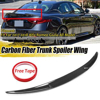 REAL Carbon Fiber Rear Trunk Lip Spoiler For Alfa Romeo Giulia 17-18 VQ Style