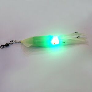 12cm soft squid fishing lure underwater green light led fish hook, Reel Combo