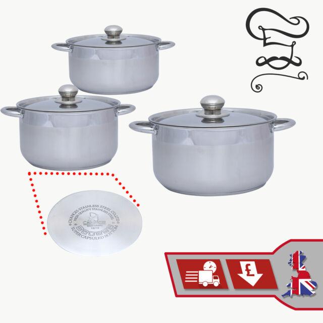 Induction safe 12pc haute qualité en acier inoxydable Casserole Casserole Cookware Set