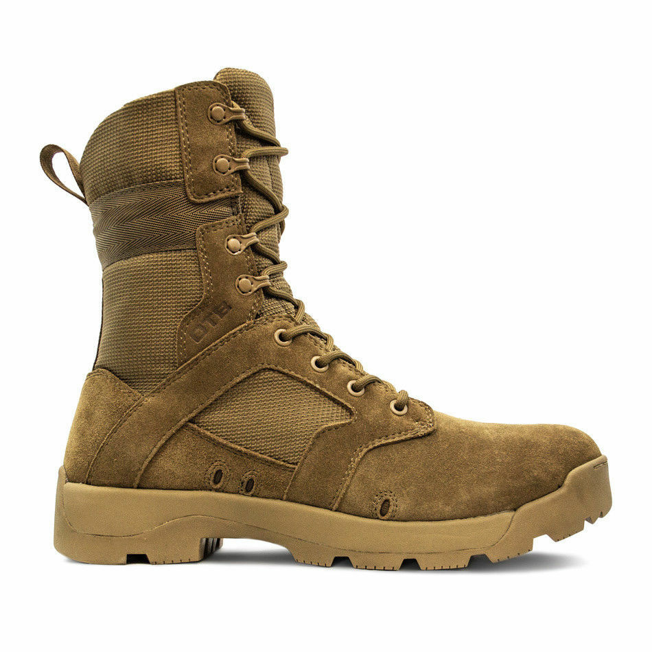 Mens jungle coyote OTB Combat Boot Police Army Military lace UP Boots size 10.5