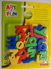 31 Magnet-Buchstaben klein * Simba * Bunt  * Neu * OVP