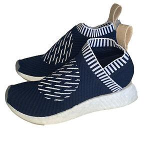 Details about Adidas NMD cS2 Primeknit Ronin Stripes Shoe Navy BA7189 Men's Size 5 Women's 6.5