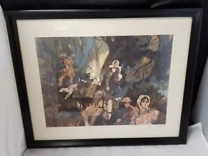 Nat Youngblood Watercolor Print Courage On The Trail Framed 21 5 17 5 Ebay