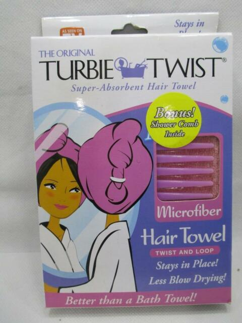 The Original Turbie Twist Super Absorbent Hair Towel Microfiber Salmon W Comb