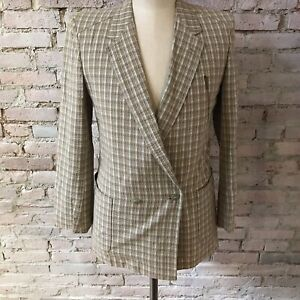 Men S Fashion Italy Seersucker Jacket Plaid Double Breasted 100