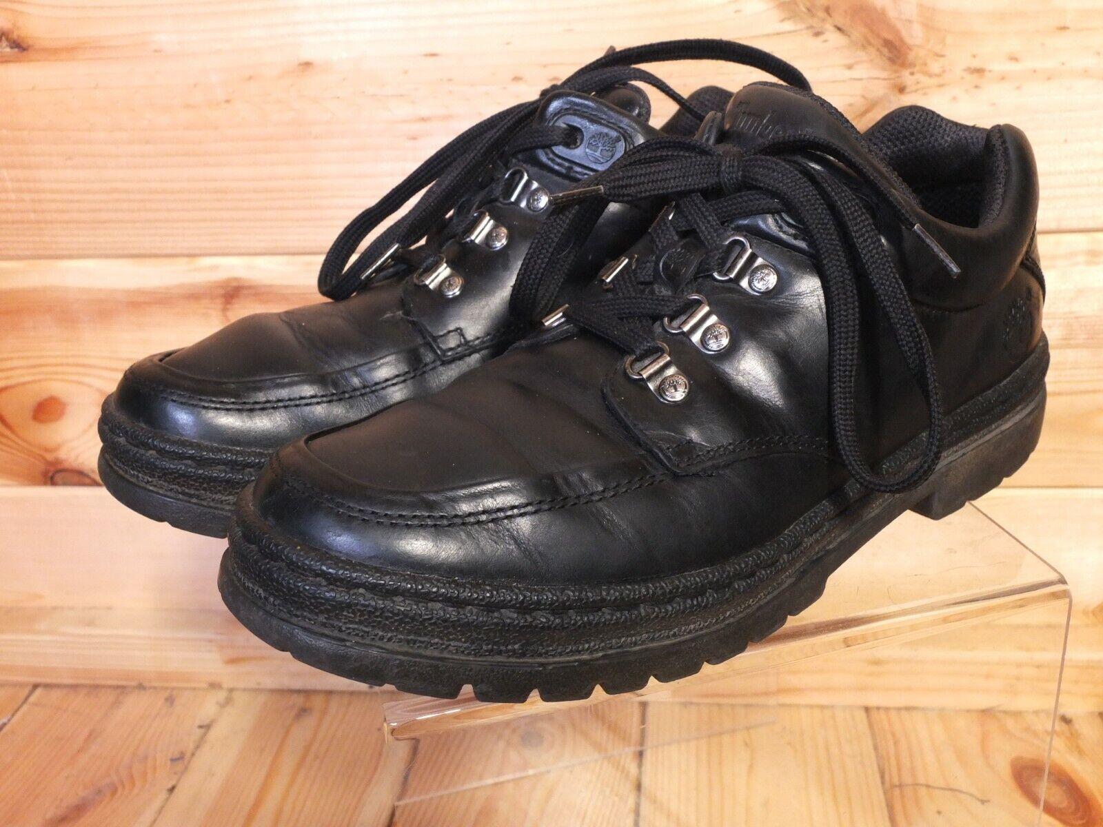 Timberland Black Leather Retro Hiking Walk Boots Shoes UK 8.5