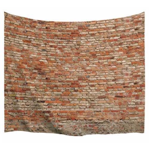 HS 3D Brick Tapisserie Wandbehang Tapisserie Wandteppich Tagesdecke Home Decor