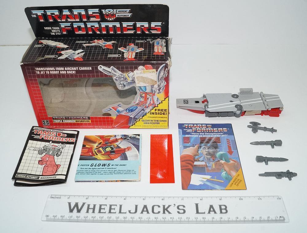 Broadside MIB 100% Complete 1986 Vintage Hasbro Action Figure G1 Transformers