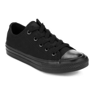 1f94ecfe5424 Converse Chuck Taylor Star Black Mono Ox Top Mens Womens Skate Shoes ...