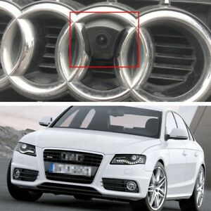 Hd Ccd Front View Camera Car Logo Embedded Waterproof For Audi A4