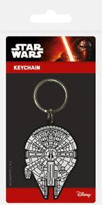 Star Wars (Millennium Falcon) Rubber Keychain Keyring NEW
