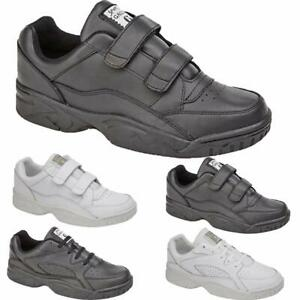 mens new casual leather wide fitting gym running walking