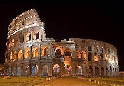 Gladiator Picture Colosseum Artwork A3 Poster SPQR Roman Soldier Logo Symbol