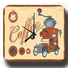 RETRO COFFEE RETRO PUB BAR KITCHEN CAFE METAL TIN SIGN WALL CLOCK