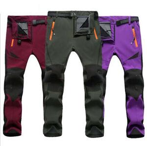 Women-039-s-Snow-Ski-Hiking-Pants-Outdoor-Waterproof-Windproof-Fleece-Slim