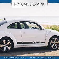 Volkswagen Beetle Kafer Grafik seiten streifen aufkleber porsche schrift