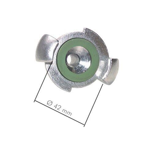 Klauenkupplung mit Schlauchanschluss Kompressorkupplung Bajonett 360° drehbar