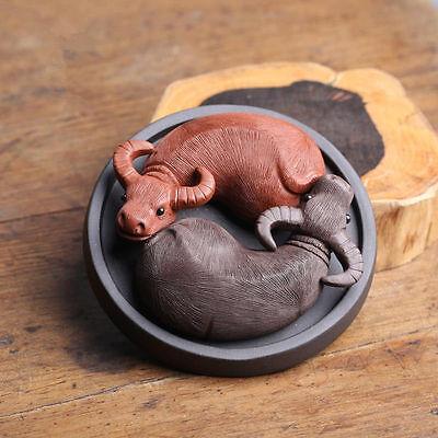10Pcs YiXing Handmade Tea Pet Purple Clay The Simulation Peanut Tea Decoration